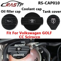 Wholesale Audi Golf Cap - RASTP-Black Oil Cap Tank Cap Bottle Cap For Audi VW CC golf 6 GTI R MK6 Scirocco EA888 Engine Motor Protection Cover RS-CAP010
