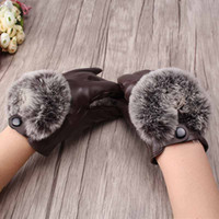 Wholesale Wholesale Leather Opera Gloves - Wholesale- 2016 New Fashion Women's Winter Gloves Warm Mittens Casual Heated Gloves Leather Gloves Comfortable Female Glvoes