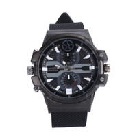 Wholesale Camera Watch Leather - Super HD 2304X1296 motion detection H.264 2K Spy Watch Camera 16G 32G Leather Strap