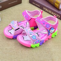 Wholesale Girl Korean Shoe - 2017 2018 Summer children's sandals, women's shoes, girls sandals, Meng KT Korean version, Princess beach shoes, students