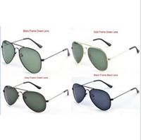 Wholesale Wholesale Uv Women Sunglasses - AAAA+ quality Glass lens Men Women Polit Fashion Sunglasses UV Protection Brand Designer Vintage Sport Sun glasses