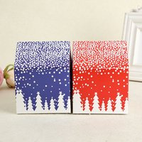 Wholesale Printed Cake Boxes - Gift Box Red House Snow Candy Biscuit Cookies Cake Box Christmas Eve Apple Boxes Party Decoration Wholesale ZA4228