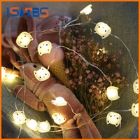 2M 20LED Cat Copper Wire String Lights LED Fairy Lights Décoration de mariage de Noël Lights Battery Operate