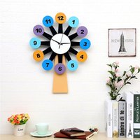 Wholesale Cartoon Wall Watches - Windmill creative wall clocks art design to decorate children room sitting room bedroom personality fashion watch