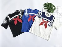 Wholesale Scarf Short Sleeve - 3 color 2017 NEW ARRIVAL hot selling Girls boy t shirt short Sleeve scarf print o-neck T shirt 100% high quality cotton summer t shirt