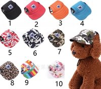 Wholesale Canvas Hiking Hats - Pet Dog Canvas Hat Sports Baseball Cap with Ear Holes Summer Outdoor Hiking for Small Dogs Size S M Pet Supplies p98