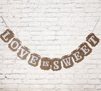 Wholesale-1 Set Love Is dolce Bunting nozze Banner Lettera Garland Banner Photo Booth puntelli del partito favore di cerimonia nuziale decorazione carta