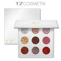 Presse Glitters Eyeshdows Palette Bright Rainbow Glitterinjections Make Up Glitter Pressa Occhiali da vista Cosmetici in 9 colori TZ