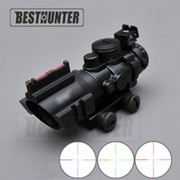 Wholesale 4x32 Red Green - Carl Zeiss 4X32 Air Rifle Scope Red Green And Blue W  Tri-Illuminated Reticle Fiber Optics Sight Riflescope For Airsoft Hunting