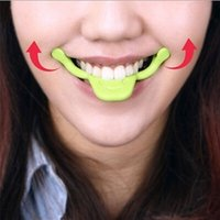 Wholesale Mouth Lift - smile trainer Silicone Smile Brace Face Line Muscles Stretching Lifting Training Mouth smile maker Facial Messager vibrator