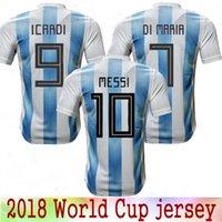 e2da9db58 New 2018 World Cup Argentina home soccer Jersey 18 19 MESSI DI MARIA AGUERO thai  quality Argentina Camisas football shirts Free Shipping