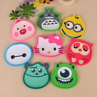Wholesale Fashion Piece silicone dining table placemat coaster kitchen accessories mat cup bar mug cartoon animal drink pads