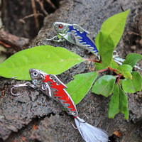 Wholesale bass feather fishing lures resale online - metal sinking fishing lures swimbait with feather swing attract fish bass pike hard artificial bait pesca tackle hooks
