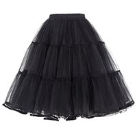 Wholesale Young Ladies Dresses - Real Image Knee Length Skirts Young Ladies Women Bust Skirts Adult Tutu Tulle Skirt A Line Ruffles Skirt Party Cocktail Dresses Summer