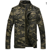 Wholesale 6xl Tactical - Army Military jacket men camouflage Tactical Camouflage casual fashon bomber Jackets