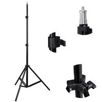 Wholesale ring videos - New 2m Light Stand Tripod Photo Studio Accessories For Ring Light Softbox Photo Video Lighting Flashgun Lamps  umbrella