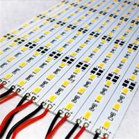 led smd flash al por mayor-5630 5730 SMD 72 LED / M LED barra tira de luz No impermeable blanco / cálido blanco DC12V tira dura de aluminio iluminación led