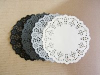 black paper doily - Black White Grey Mixed Colors Hollowed Lace Paper Doilies Placemat Crafts for DIY Scrapbooking Wedding Decoration Cake