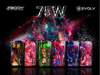 Wholesale Chipping Tips - 2017 the newest Authentic Sbody Legend resin DNA75 75W Mod single 18650 26650 Battery TC chip Evolv DNA75 chip Resin Drip Tip SMOK Kanger