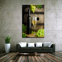 Wholesale Modern Wine Abstract Art Canvas - Drop shipping large canvas wall art wine picture modern abstract painting for kitchen picture wall decor art