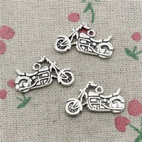 Wholesale Scooter Jewelry - 50pcs Charms Jewelry motorcycle scooter autocycle 14*25mm Antique pendant ,Zinc Alloy Ancient Sliver DIY Craft Necklace Bracelet Accessories