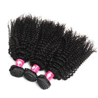 Wholesale kinky hair weave for blacks for sale - Group buy bundles A Virgin Brazilian Afro Kinky Curly Hair Weaves B Natural Black Human Remy Hair Weft For Black Women Forawme