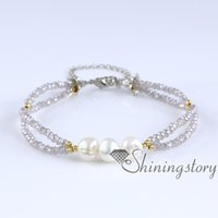Wholesale wholesale chunky jewellery - chunky pearl bracelet handmade boho jewellery bohemian bracelets boho bridal jewelry pearl bridal jewelry