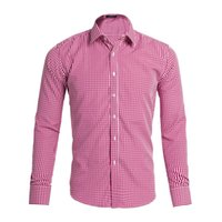 Wholesale mens xl wool shirt - Shirts New Spring Casual Men Shirt Cotton Linen Mens Dress Shirt Slim Fit Plaid Shirt Long sleeve AEA2