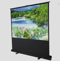 Wholesale Frame Projection Screen - 60-inch 4:3, Portable Floor Pull Up Projection Screen