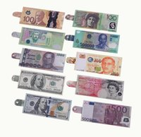 Wholesale Credit Card Papers - 2017 New Various countries Paper money wallet fashion men dollar purse wallet card holders Children Kids Gift Presents size 19.5*8.5cm GG27