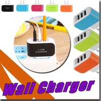 Wholesale Travel Adaptor Usb - Wall Charger US EU 3 Ports USB Travel Adapter Convenient Power Adaptor Home Plug LED USB Charger For iPhone X 8 7 Plus Samsung Note 8