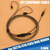 enchufe el auricular diy al por mayor-130 cm DIY Reemplazo 3.5mm Audio Plug Cable Reparación Auriculares Auriculares Auriculares Para Shure SE215 315 535 846 UE900 Envío Gratis