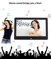 Wholesale Digital Photo Frame Alarm Clock - 10.1 Inch 16:9 HD 1024 * 600 LCD Digital Photo Frame Calendar Clock MP3 MP4 Video Player With Remote Control