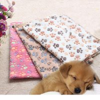 Wholesale Pet Spot - 40x60cm Pet supplies blanket manufacturers spot kennel pad wholesale dog blanket autumn and winter warm blanket coral cashmere