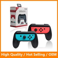 pack for nintendo - Controller Grip for Nintendo Switch NS Left and Right Joy Con Controller Gamepad Handle Stand Holder Protector with Retail Packing