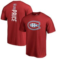 Wholesale Number 31 - 17-18 new season NHL Montreal Canadiens 31 PRICE 6 WEBER Name & Number T-Shirt
