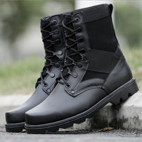 Forze speciali Contrattacco Black Men Caccia camuffamento Training Tactical Army Combat Boots Uomo Snow Boots in pelle Army Shoes