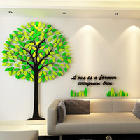 Wholesale Wholesale Mall - Wall Stickers For Kids Rooms Mult Size Tree Wall Stickers Acrylic Material Environmental Wall Stickers For Kindergarten Mall