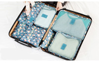 Wholesale Finish Business - Travel bag 7 sets of luggage packing finishing bag shoes underwear makeup bag
