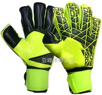 Wholesale Quality Gauntlets - New!A+++Quality Brand AD Logo Professional Soccer Goal Keeper Gloves Finger Ptotection Top Latex Goalie Gloves for Men 5MM Latex