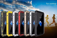 Wholesale Gorilla Case Dhl - Luxury Doom Armor Shockproof Dropproof Rain-Waterproof Metal Case for IPhone 7 6S 6 6S Plus  5S SE with Gorilla Glass Aluminum Cover DHL