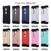 Wholesale Iphone G Cases - Hybrid Armor Cases For Iphone7 MOTO G G2 G3 G4 play G5 Plus TPU+PC 2 In 1 Cover