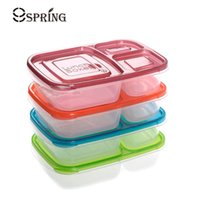 Wholesale 4pcs Set Plastic Lunch Boxes Container With Compartments Microwavable Food Container Bento Lunch Box Set For Kids Adults School Picnic