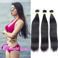 Colorful Queen 3Pcs Brazilian Strappy Straight Remy Virgin Hair Weave Bundles 300g Brazilian Straight Virgin Remy Hair Extensions 8-26Inches