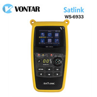 Wholesale dvb s2 finder resale online - Genuine Satlink WS6933 DVB S2 FTA C KU Band Digital Satellite Finder Meter With inch LCD Display