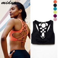 Wholesale Orange Cross Bracelet - The New Sexy low-Breasted Beauty Of The Back Of The Hollow Ball-Free Bracelet Cross Bandage Yoga Fitness Vest Underwear