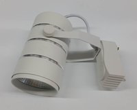 Wholesale white with silver circle W cob LED track light ac85 v warm white nature white cold white