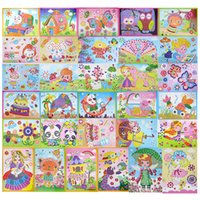 Wholesale Eva Foam Puzzle - Wholesale- 31 designs  lot DIY Cartoon Animal 3D EVA Foam Sticker Puzzle Series E Early Learning Education Toys for Children