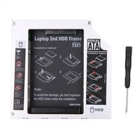 Wholesale Enclosure Dvd - Wholesale- Universal Aluminum SATA 3.5'' SATA 2nd HDD Caddy Hard Enclosure 12.7mm SDD Case HDD Enclosure for Laptop CD DVD-ROM ODD