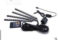 lampara de pie carro al por mayor-Coche modificado música sonido control atmósfera lámpara nuevo puerto USB 12v atmósfera luz LED suelas coloridas de los pies
